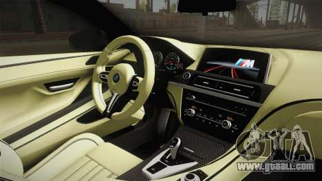 BMW M6 Coupe (F13) for GTA San Andreas inner view