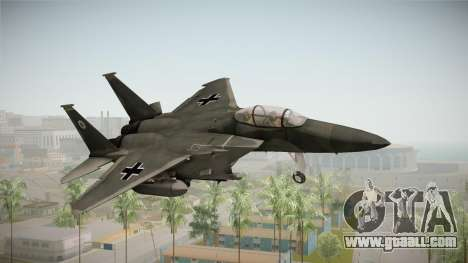 F-15 Eagle Luftwaffe 1945 for GTA San Andreas back left view