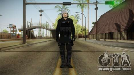 Turkish Riot Police with Gear for GTA San Andreas second screenshot