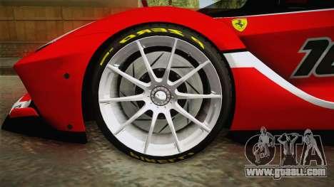 Ferrari FXX-K for GTA San Andreas back view