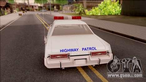 Dodge Monaco Montana Highway Patrol v2 for GTA San Andreas back left view