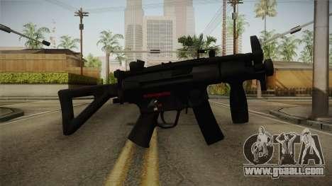 Mirror Edge HK MP5K-PDW for GTA San Andreas