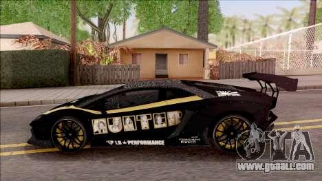 Lamborghini Aventador LP700-4 LB Walk Hunter for GTA San Andreas left view