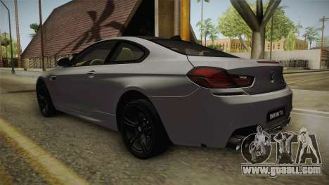 BMW M6 Coupe (F13) for GTA San Andreas back left view