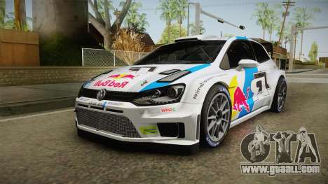 Volkswagen Polo R WRC for GTA San Andreas back left view