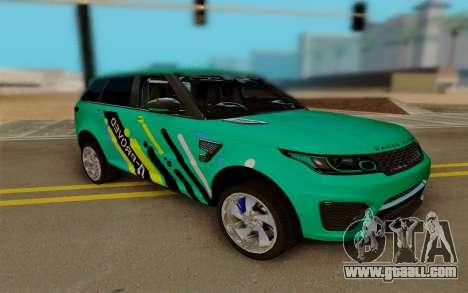 Range Rover SVR for GTA San Andreas