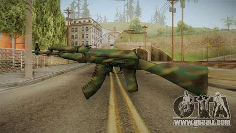CS: GO AK-47 Jungle Spray Skin for GTA San Andreas second screenshot