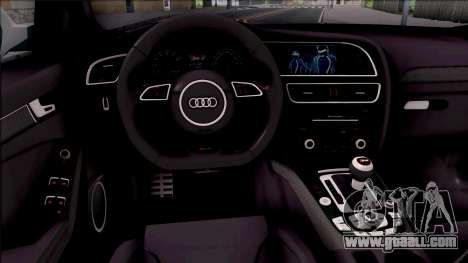 Audi RS4 Avant Edition Tron Legacy for GTA San Andreas inner view