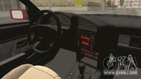 BMW E36 Sedan for GTA San Andreas inner view