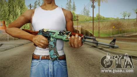 CS: GO AK-47 Fire Serpent Skin for GTA San Andreas third screenshot