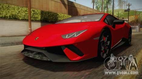 Lamborghini Huracan Performante LP640-4 2017 v1 for GTA San Andreas right view