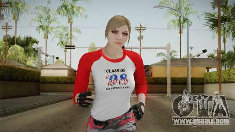 Gun Running Female Skin Red for GTA San Andreas