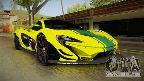 McLaren P1 GTR for GTA San Andreas