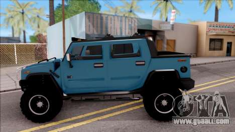 Hummer H2 Sut 4x4 for GTA San Andreas left view
