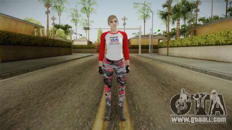 Gun Running Female Skin Red for GTA San Andreas second screenshot