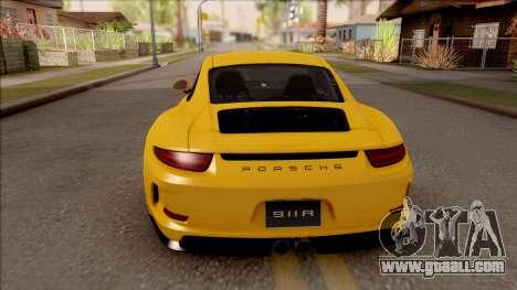 Porsche 911 R for GTA San Andreas back left view