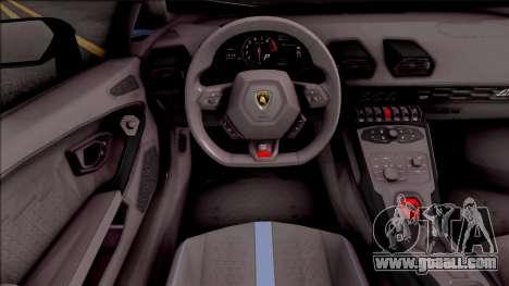 Lamborghini Huracan Performante for GTA San Andreas inner view