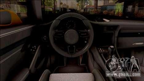Porsche 911 R for GTA San Andreas inner view