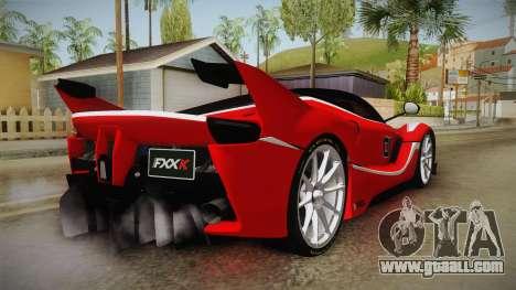 Ferrari FXX-K for GTA San Andreas back left view