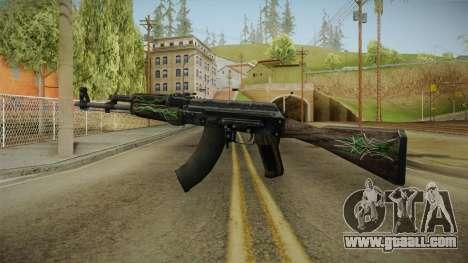 CS: GO AK-47 Emerald Pinstripe Skin for GTA San Andreas second screenshot