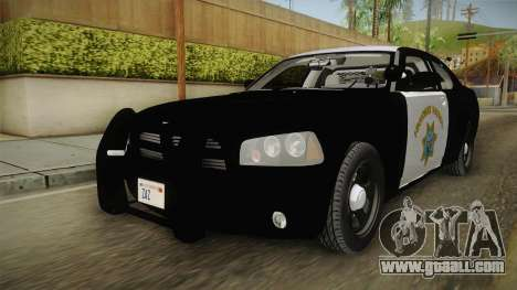 Dodge Charger CHP 2010 for GTA San Andreas right view
