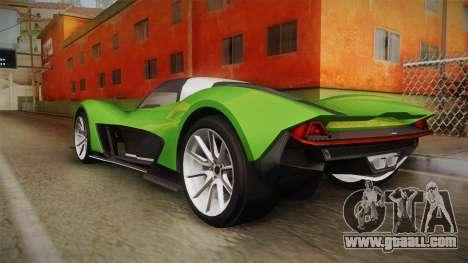 GTA 5 Dewbauchee Vagner IVF for GTA San Andreas left view