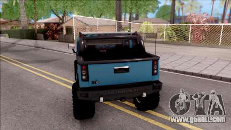 Hummer H2 Sut 4x4 for GTA San Andreas back left view