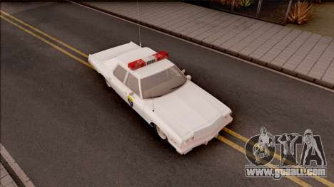Dodge Monaco Montana Highway Patrol v2 for GTA San Andreas right view