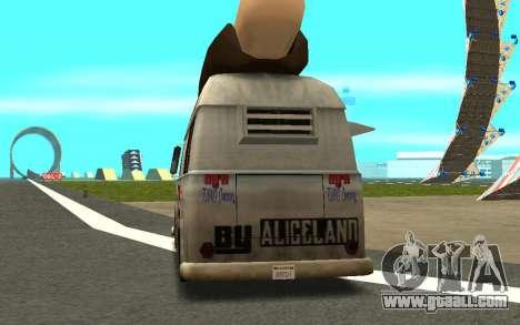 HotDog Fat Tony Tacos Tining 4X4 for GTA San Andreas back left view