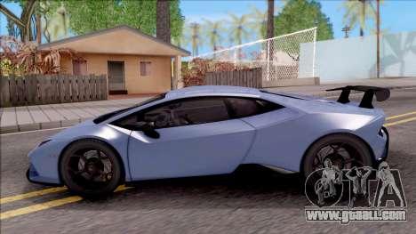 Lamborghini Huracan Performante for GTA San Andreas left view