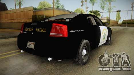Dodge Charger CHP 2010 for GTA San Andreas left view