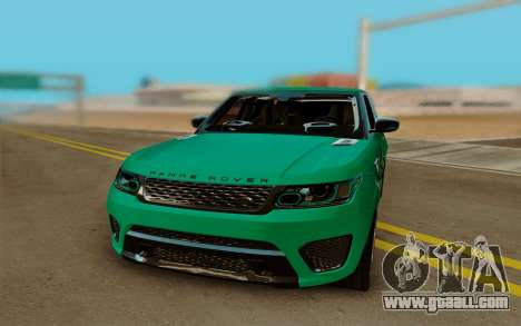 Range Rover SVR for GTA San Andreas back view