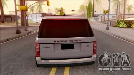 Range Rover Vogue Sport 2017 for GTA San Andreas back left view