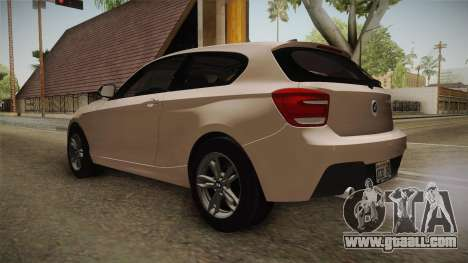 BMW M135i 2013 for GTA San Andreas back left view