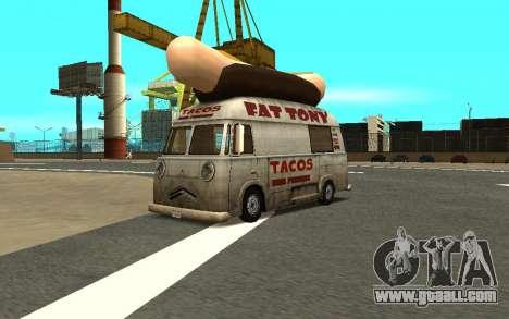 HotDog Fat Tony Tacos Tining 4X4 for GTA San Andreas
