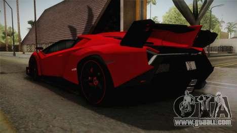 Lamborgini Veneno Roadster 2014 IVF v2 for GTA San Andreas back left view