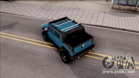Hummer H2 Sut 4x4 for GTA San Andreas back view