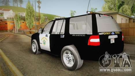 Ford Expedition CHP for GTA San Andreas left view