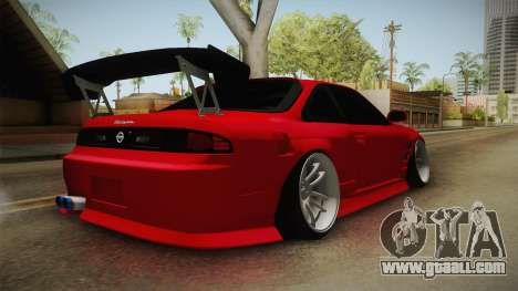 Nissan S14 240SX Front End for GTA San Andreas back left view