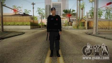 Turkish Police-Rapid Response Unit-Long Sleeves for GTA San Andreas second screenshot