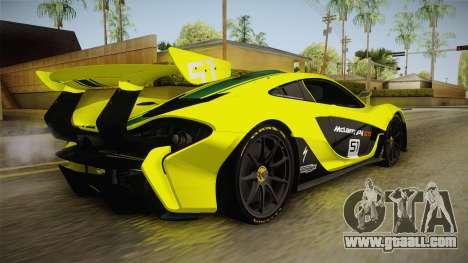 McLaren P1 GTR for GTA San Andreas left view