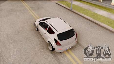 Hyundai i20 for GTA San Andreas back view