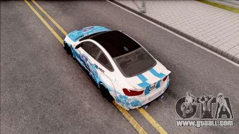 BMW M4 Itasha Hatsune Miku 2017 Liberty Walk for GTA San Andreas back view