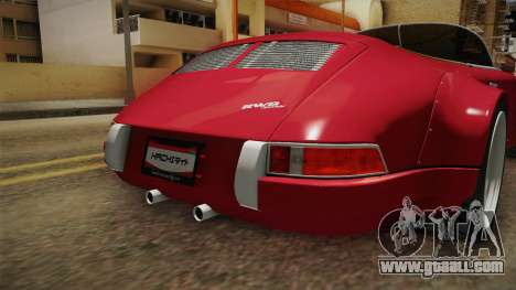 Porsche 911 RWB Speedster 1984 for GTA San Andreas bottom view