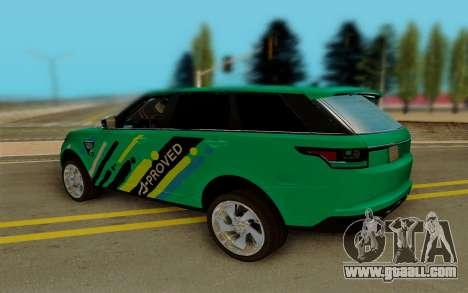 Range Rover SVR for GTA San Andreas back left view