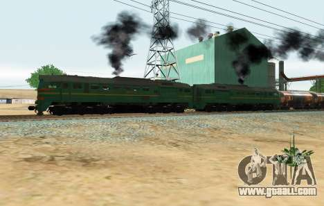 Freight Locomotive 2M62 1184 Masha for GTA San Andreas back left view