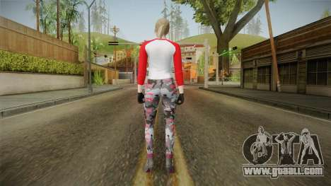 Gun Running Female Skin Red for GTA San Andreas third screenshot