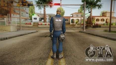 Turkish Police-Rapid Response Unit with Gasmask for GTA San Andreas third screenshot