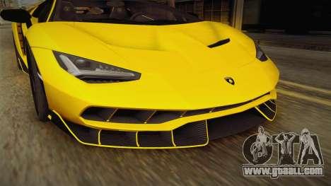 Lamborghini Centenario LP770-4 v1 for GTA San Andreas side view