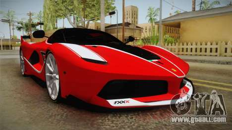 Ferrari FXX-K for GTA San Andreas right view